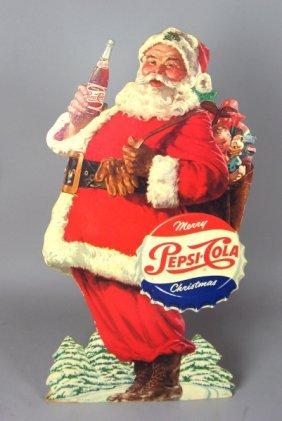 342 Early Pepsi Cola Christmas Stand Up Display Lot 342