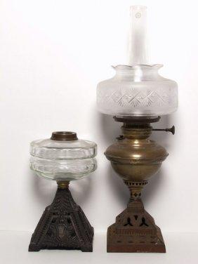 503 Antique Lighting Coal Oil Lamps Lot 503