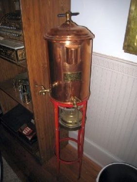 3065 Antique Barber Shop Hot Water Dispenser Towel Wa
