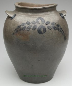 VIRGINIA DECORATED SALT-GLAZED STONEWARE JAR, App