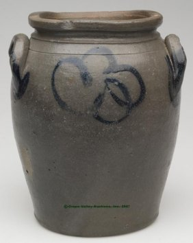 HENRICO CO., VA DECORATED SALT-GLAZED STONEWARE J