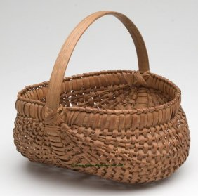 VIRGINIA WHITE OAK SPLINT RIB-TYPE BASKET, Kidney