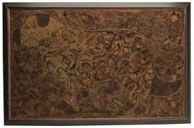 AMERICAN PICTORIAL HOOKED RUG, Depicting A Dog Wi