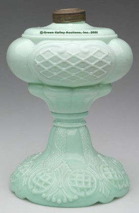 PRINCE EDWARD STAND LAMP,  Kerosene Period, Opaque