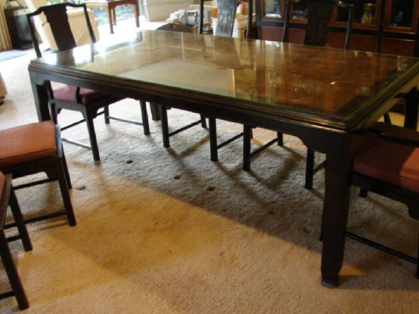 52 oriental style dining table century furniture co lot 52 for Oriental dining table