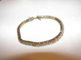 14 K Y/gold And Diamond Tennis Bracelet.