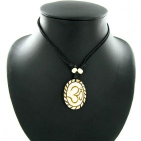 Tibet Handfcarved Bone Pendant Choker Necklace EST: