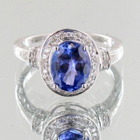 2.13ct Tanzanite Diamond 14k Ring EST: $4200 - $840
