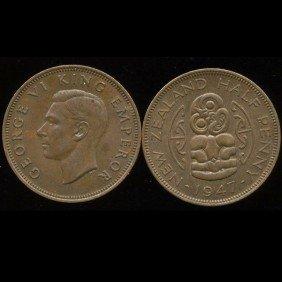 1946 New Zealand 1/2p UNC EST: $27 - $54 (COI-10199