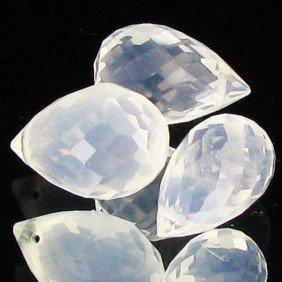 10.05ct Ice Quartz Briolette Parcel EST: $39 - $78