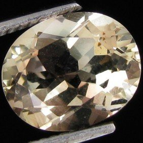 1.50ct Clear Champagne Oregon Sunstone Oval EST: $3