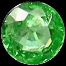 2Mm Vvs Round Cut Top Aaa Green Garnet Tanzania EST