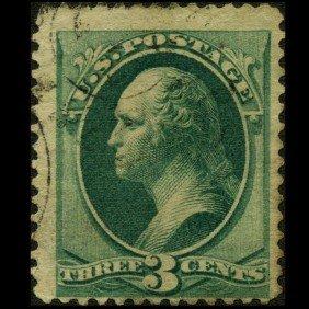1870 US 3c Washington Stamp