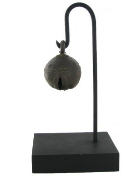 Antique Thai Cow Bell On Stand