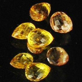 1.17ct Yellow Sapphire Briolette Parcel
