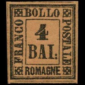 1859 Romagna 4b Stamp MINT Hinged