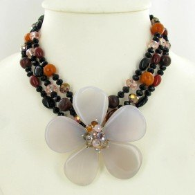 800ct Agate & Crystal Necklace