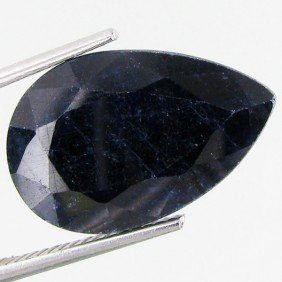 5.95ct Blue African Sapphire Pear Cut