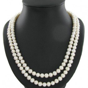 White South Sea Pearl Double Strand 42""