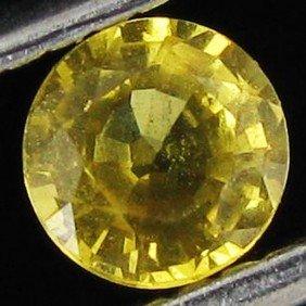 0.44ct Golden Yellow Sapphire Round