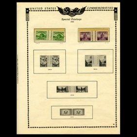1935 US Stamp Album Page 4pcs EST: $24 - $48 (STM-1