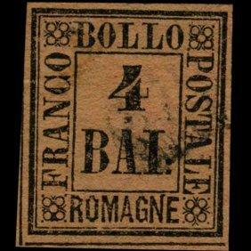 1859 Romagna 4b Stamp EST: $450 - $900 (STM-1034)