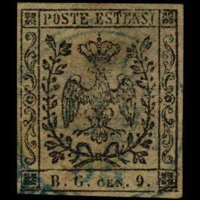 1853 Modena 9c Stamp