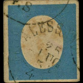 1854 RARE Italy Sardina 20c Stamp