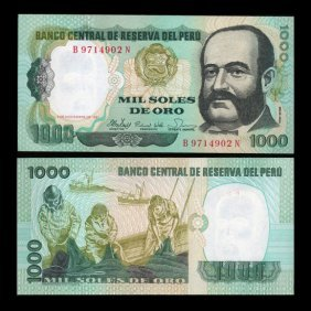 1981 Peru 1000 Soles Crisp Uncirculated Note EST: $
