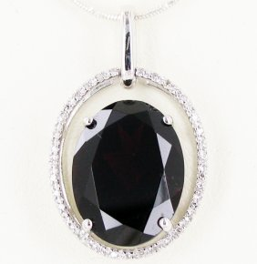 20.25twc Garnet Diamond 14k Gold Pendant