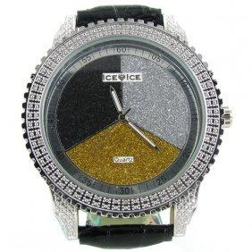 New Ice Time Mens Diamond Bezel Watch