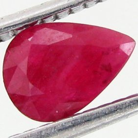 0.62ct Red Pink Burma Ruby Clean Heat Only