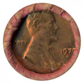1970S Linc 1c BU RARE UnOpened Bank Roll 50 GEMS
