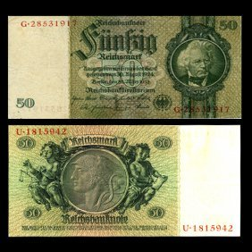 1933 Germany 50 Mark Note Better Grade