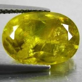 5.30ct Rich Green Yel. Natual Sphene