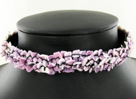 Crocheted Shell Choker Necklace