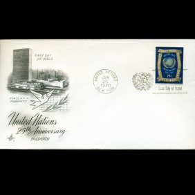 1970 UN First Day Postal Cover