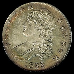1832 US Bust Silver Half GEM MS65/66 Variety