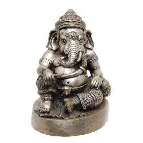 Vintage Ganesh Bronze Nickel Statue