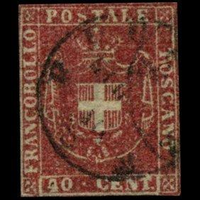 1860 Tuscany 40c Stamp