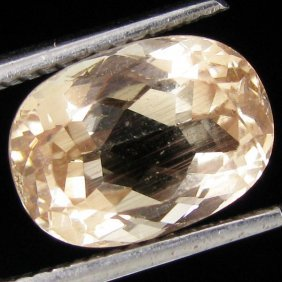 3.15ct Clear Champagne Oregon Sunstone Oval