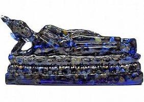 400.00ct. Blue Sapphire Reclining Buddha Statue