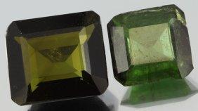 6.06ct Green Tourmaline Parcel Emerald Cut