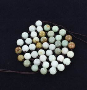 400twc Multicolor Burma Jade Bead Strand
