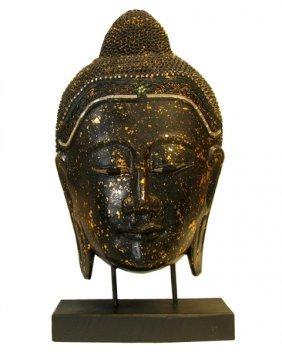 Hand Carved Buddha Face Of Monkey Pod
