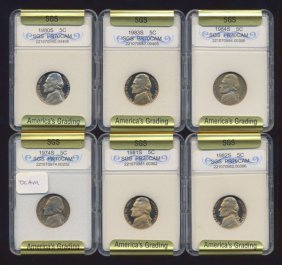 1974-1984 Jefferson Nickel Set Graded Gems