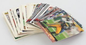 50 Piece Unsearched Hi Grade Football Card Lot