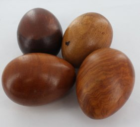 Handcarved Asian Hardwood Worry Stone Parcel