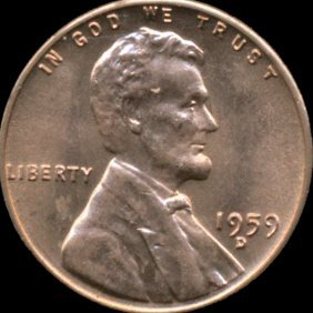 1959d Lincoln Cent Ms66/67 Reverse Cud Error