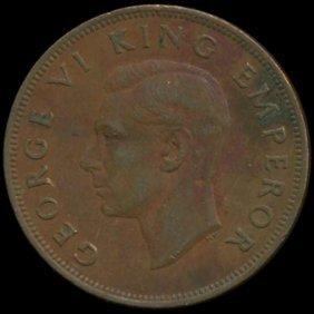 1941 New Zealand Penny George Vi Hi Grade